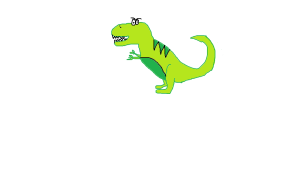 (My attempt at an angry dinosaur)